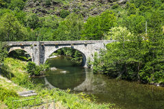 Cevennes: old bridge Royalty Free Stock Image