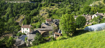 Cevennes: old typical village Stock Photos