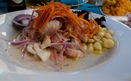 Ceviche, традиционное перуанское блюдо Стоковая Фотография RF