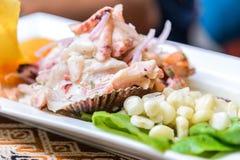 Ceviche -秘鲁,南美 免版税库存照片
