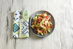 Ceviche con camarones - γαρίδες ceviche στοκ εικόνες