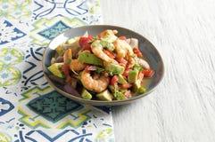 Ceviche con camarones - γαρίδες ceviche Στοκ Εικόνα
