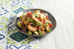 Ceviche con camarones - shrimp ceviche. Food & Dishes for Restaurants, Cuisine of the peoples of the world, Healthy Recipes Stock Image
