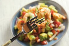 Ceviche con camarones - shrimp ceviche. Food & Dishes for Restaurants, Cuisine of the peoples of the world, Healthy Recipes Royalty Free Stock Photos