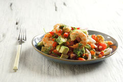 Ceviche con camarones - shrimp ceviche Royalty Free Stock Images