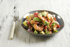 Ceviche con camarones - shrimp ceviche Stock Photo