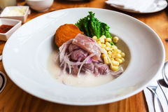 Ceviche d'un plat Photo stock