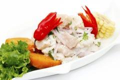 Ceviche de fruits de mer images libres de droits