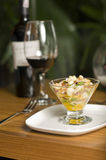 Ceviche met rode wijn Stock Foto's