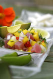 ceviche passionfruit 免版税图库摄影