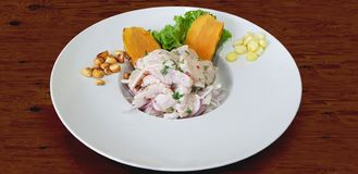 Ceviche, the Peruvian national dish play an important role in the culinary renaissance of the country. royalty free stock photo
