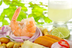 Ceviche with Pisco Sour Royalty Free Stock Images