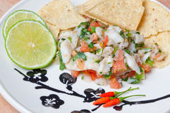 Ceviche Platter Stock Images