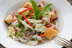 Ceviche with prawns, onions, lime and chili Stock Photo