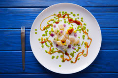 Ceviche recipe modern gastronomy style Royalty Free Stock Photo
