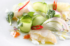 Ceviche salad Royalty Free Stock Image