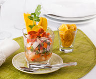 Ceviche with sea urchin Royalty Free Stock Photography