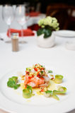 Ceviche of seabass and salmon Royalty Free Stock Photography