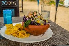 Ceviche traditionell mat av de Stillahavs- söderna - amerikanskt land royaltyfri foto