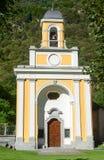 Cevio教堂在Maggia谷的 免版税库存照片