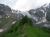 Cey glacier. Tseyskoy glacier. Russia . North Caucasus Royalty Free Stock Images