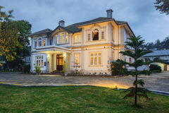 Ceybank rest, a grand Victorian bungalow located in the emerald green hill country in the evening Royalty Free Stock Photo