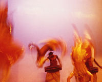 Ceylon dancers 09. Traditional dancers in Ceylon Royalty Free Stock Photos