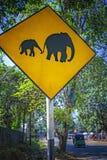 Ceylon elephant road sign Royalty Free Stock Photos