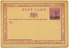 Ceylon post card, 1885 Stock Photo