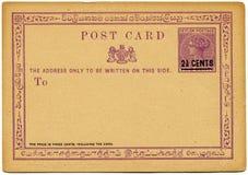 Ceylon-Postkarte, 1885 stockfoto