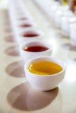 Ceylon tea degustation cups closeup view Stock Photography