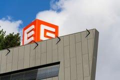 CEZ group company logo on headquarters building Stock Photo