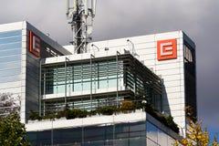 CEZ-het embleem van het groepsbedrijf bij hoofdkwartier de bouw stock afbeelding