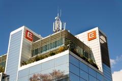 CEZ-het embleem van het groepsbedrijf bij hoofdkwartier de bouw stock afbeeldingen