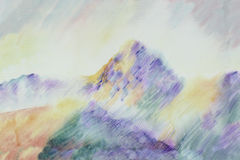 Cezanne aiment la montagne Photo stock