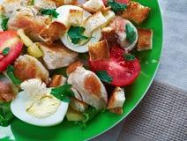 cezar鸡的ensalada 免版税库存图片