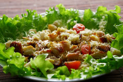 Cezar salad with chicken and tomatoes Royalty Free Stock Photography