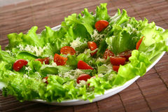 Cezar salad with fresh tomatoes Stock Photos