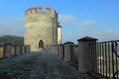 Cezky Sternberk castle tower Royalty Free Stock Photos