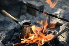 cezve κρύο γυαλί espresso καφέ όπως το εξυπηρετούμενο μικρό τουρκικό ύδωρ Στοκ εικόνες με δικαίωμα ελεύθερης χρήσης