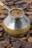 Cezve with coffee Stock Image