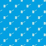 Cezve pattern seamless blue. Cezve pattern repeat seamless in blue color for any design. Vector geometric illustration Royalty Free Stock Photography