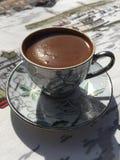cezve zimna kawa od espresso szkło jak mała służyć turecka wody Obrazy Royalty Free