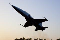 CF-5 aposentado no meio de um carrossel foto de stock royalty free