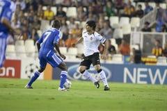 CF de Valence contre Chelsea Photos libres de droits