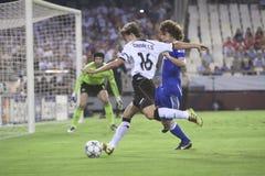 CF de Valence contre Chelsea Images libres de droits