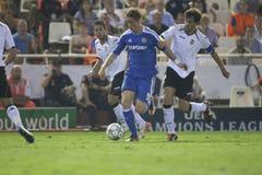 CF de Valence contre Chelsea Images stock