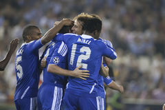 CF de Valence contre Chelsea Image stock