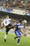 CF de Valencia contra Chelsea Imágenes de archivo libres de regalías