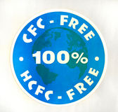 CFC 100% do sinal, HCFC-livre Imagem de Stock